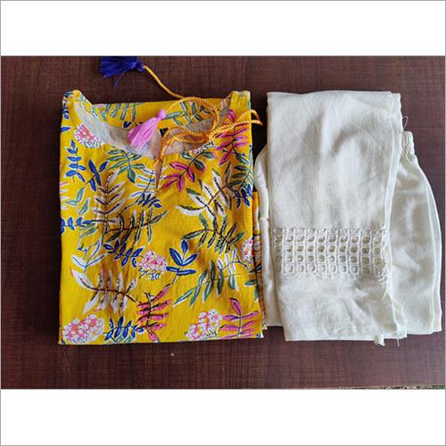 Flower Printed Cotton Flex Kurta
