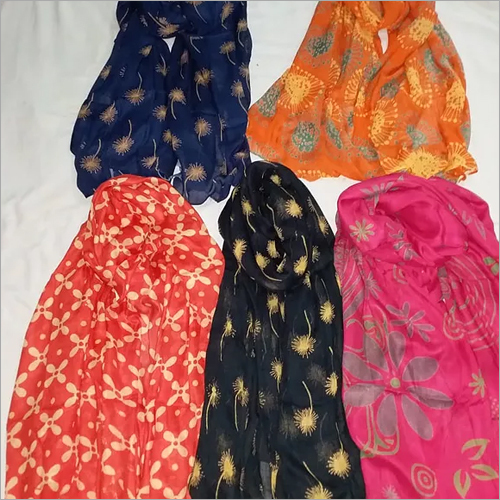 Plain Discharge 42 Rayon Fabrics Dupatta
