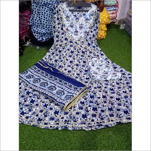 Rayon Fabric Printed Anarkali Kurti