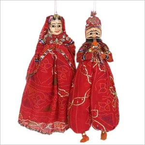Colorful Wooden Face String Wood Folk Puppets