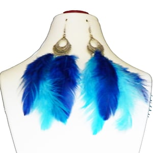 Oxidized Metal with Feather Earrings
