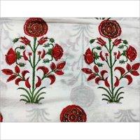 Hand Block Mughal Printed Cotton Fabric