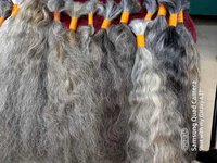 NON CHEMICALIZED INDIAN WOMEN NATURAL GRAY/GREY HAIR EXTENSIONS