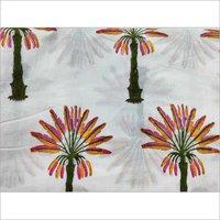 Palm Tree Block Printed Cotton Fabric