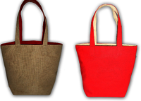 Reversible Handled Style Canvas & Juco Tote Bag