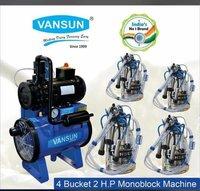 2HP Four Bucket Milking Machine