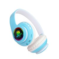 66bt LED Colorful Light Up Headphones 5.0 Wireless Headset Powerful Stereo Bass