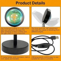 Sunset Projection Floor Lamp Room LED Night Light Projector Light Lamp for Hotel Home