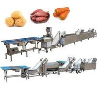 Sweet Potato Peeling Cutting Root Vegetable Cleaning Equipment Conveyor Belt Sweet Potato Washing Peeling Processing Machinery Line with station