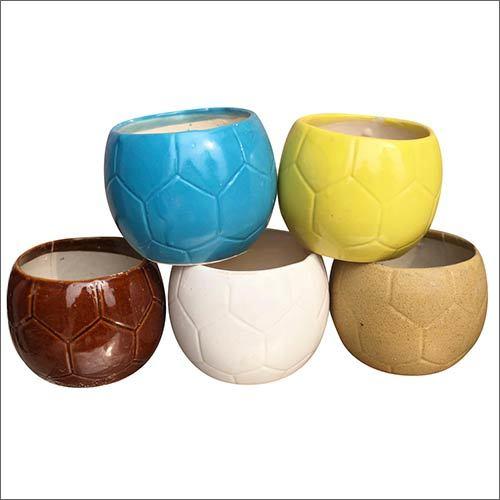 Football Shaped Ceramic Planter