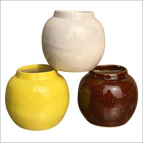 Plain Matki Shape Ceramic Planter