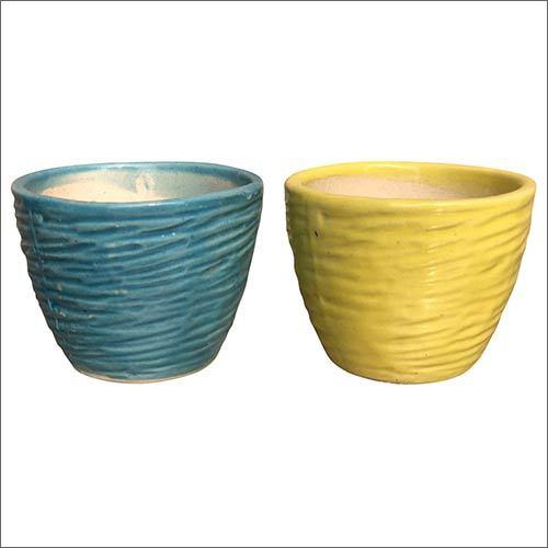 Round Ceramic Planter