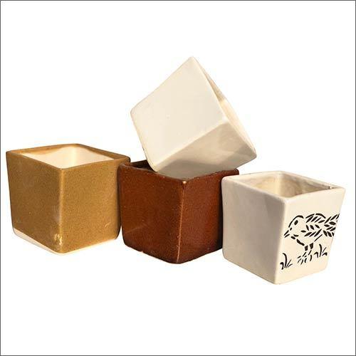 Squre Shape Ceramic Planter