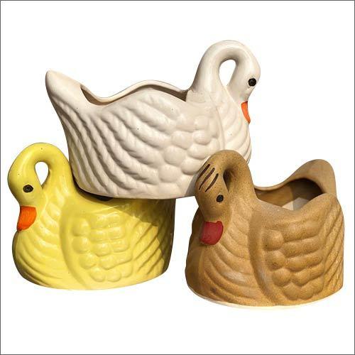 Designer Duck Shape Ceramic Planter