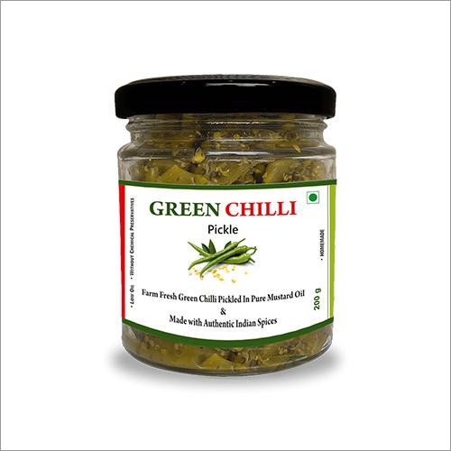 Homemade Green Chilli Pickle