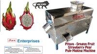 Pitaya - Dragon Fruit Strawberry Pear Pulp Making Machine