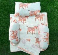 Orange Horse print baby bedding &baby dohar