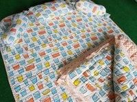Glass Block Printed Baby Bedding Blanket