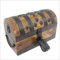 28x16.5x15 CM Round Wooden Box