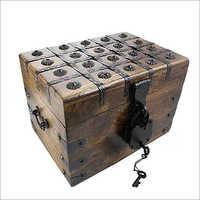 20x20x17.5 CM Square Wooden Box