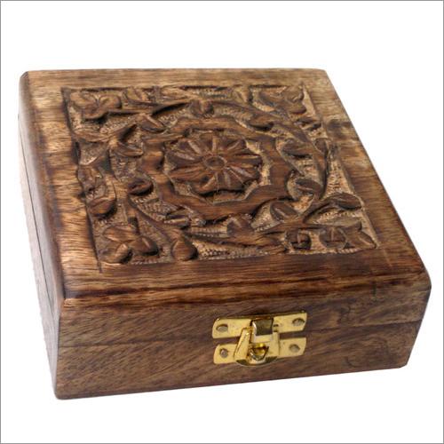 5x5x1.75 Inch Mango Wooden Box