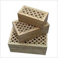 3 Pcs Set Of Jali Box