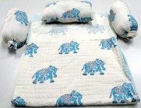 Elephant Block Printed  Baby Bedding Dohar & Blankets