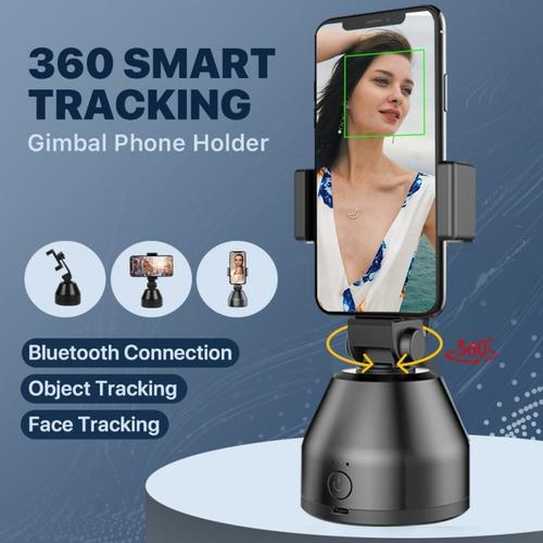 Smart facial tracking phone holder,smart tracking holder with automatic 360-degree rotation.