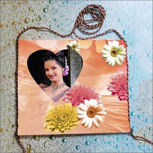 Floral Print Photo Blank Bag