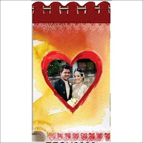 Heart Shape Photo Printed Curtain