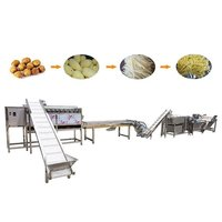 Fully Automatic Industrial Frozen French Fries Production Line Cassava Fresh Finger Sweet Potato Chips Making Machine Price