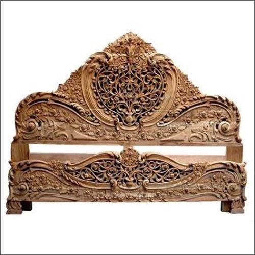 Wooden Carving Rose Shape Bed Headerboard