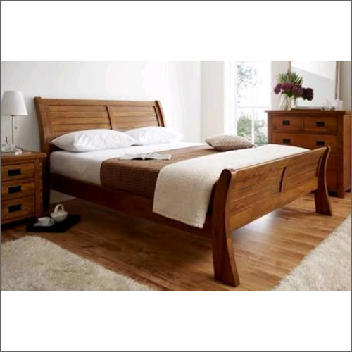 Wooden Plank Size Bed