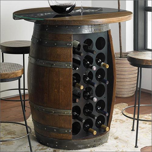 Wooden Bar Barrel