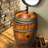 Wooden Wash Basin Barrel