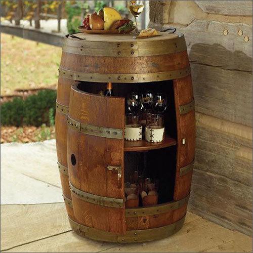 Wooden Designer Bar Barrel