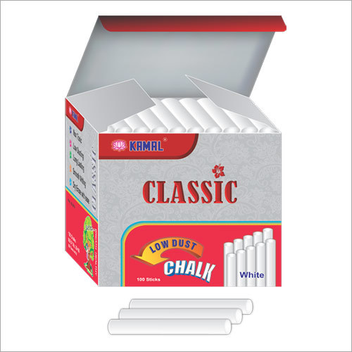 Kamal Classic Low Dust White Chalk