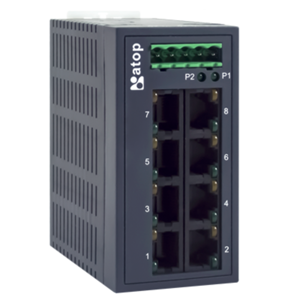 Industrial Unmanaged Fast Ethernet Switch, EH2008 8-Port