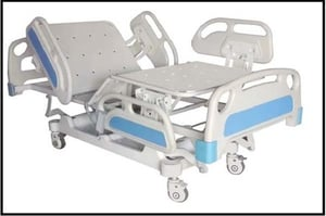 ICU Bed Electrical With Abs Panel And Abs Railing