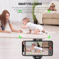 360° Rotation Face Tracking Smart AI Gimbal Personal Robot Cameraman Cell-Phone Stand Holder