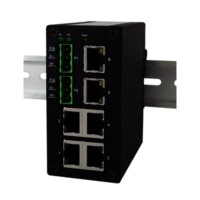 EH2306 Industrial Unmanaged Fast Ethernet Switch, 6-Port