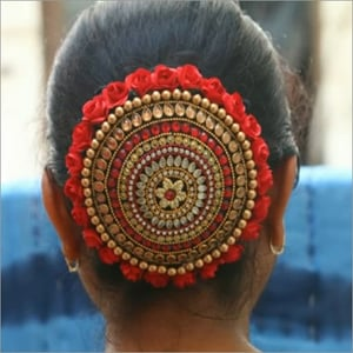Hair Bun Gajra Flower Juda Pin