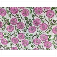 Indian Sanganeri Block Printed Fabric