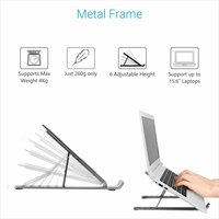 Aluminum Metal Laptop Table Stand with Bags. 280 Grams