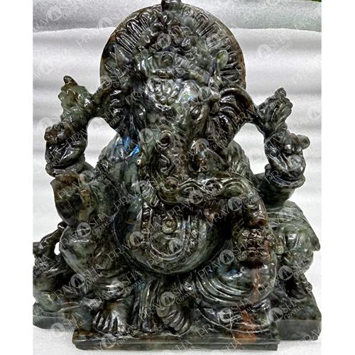 Prayosha Crystals Labradorite Ganesh Idol