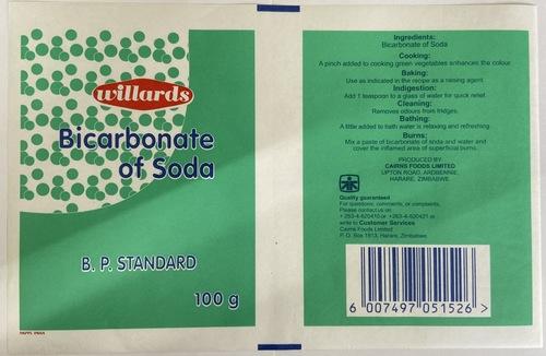 Bicarbonate Soda Pouches