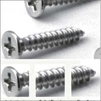 SS CSK Phillips Head Self Tapping Screws