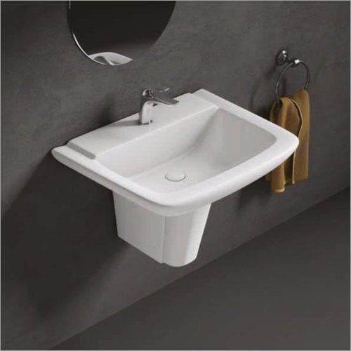 Louret Half Pedestal Wash Basin
