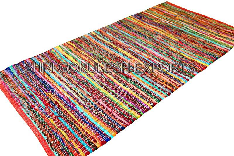 Indian Handmade 100% Cotton Rag Rugs