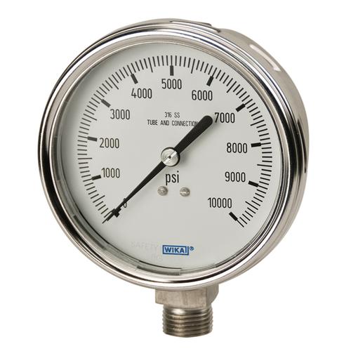 Glycerine filled Bourdon tube pressure gauges